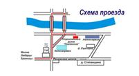 Схема проезда к магазину Акварель